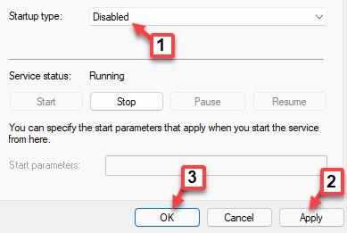 Propiedades de la utilidad de eventos externos de Amd Tipo de inicio general Desactivado Aplicar Aceptar