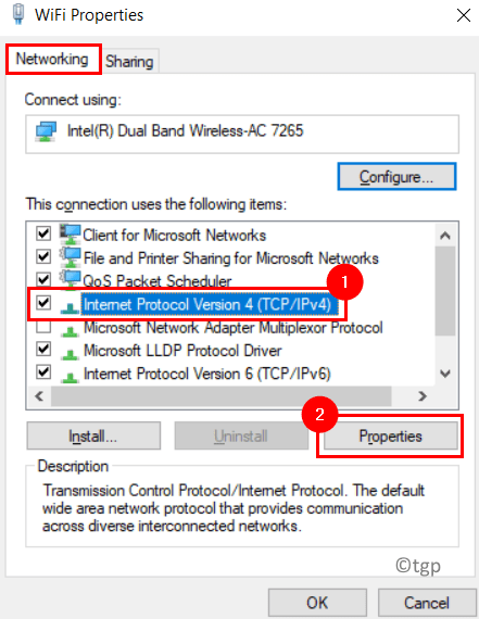 Opciones de Internet Ipv4 Min