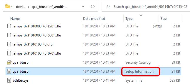 21 Archivo de información de configuración optimizado