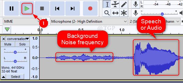 Observe el ruido y el audio Nuevo