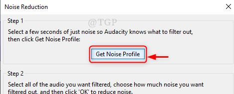 Obtener perfil de ruido nuevo