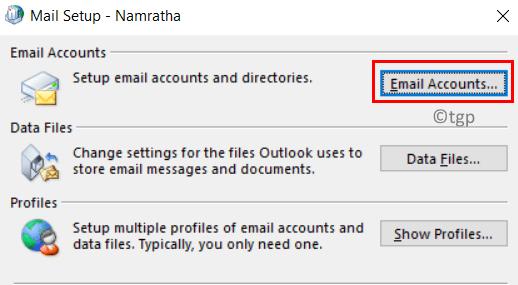 Configuración de correo mín.