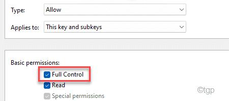 Control total Min Min
