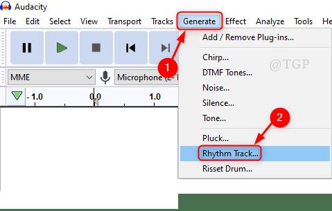 Generar Rthym Track Audacity Min
