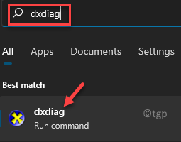 Iniciar Windows Search Dxdiag Best Match Result