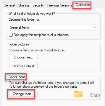 Propiedades Personalizar iconos de carpeta Cambiar icono