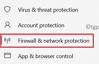 Mínimo de protección de red de firewall
