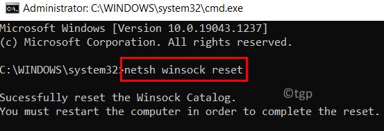 Restablecer configuraciones de red mín.