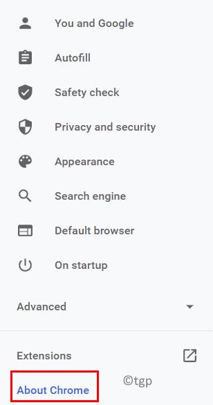 Chrome Acerca de Chrome Update Min