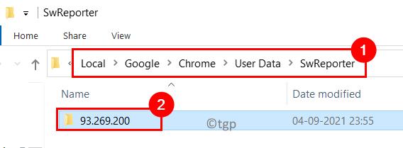 Carpeta de versión de Chrome de Swreporter de datos de usuario Mín.
