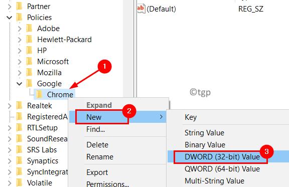 Chrome New Dword Min