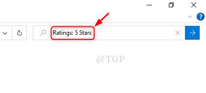 Buscar calificaciones de estrellas
