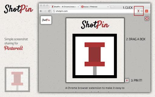 Captura de pantalla oficial de ShotPin, simplemente arrastre un cuadro para elegir las dimensiones