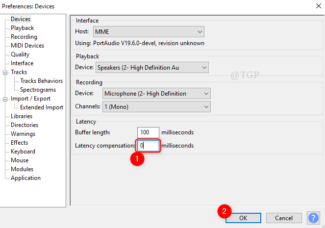 Latency From Devices Audacity Min