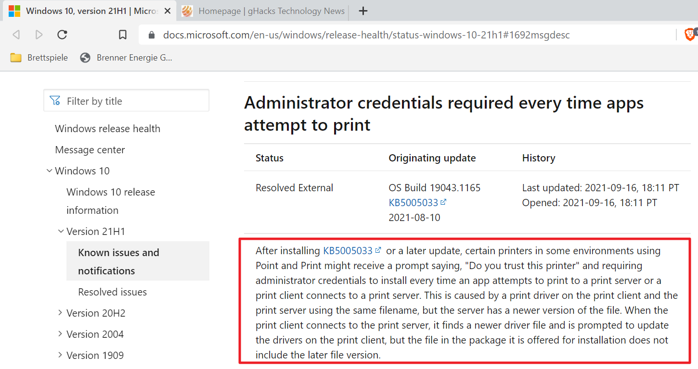 edición de Windows Print de agosto de 2021