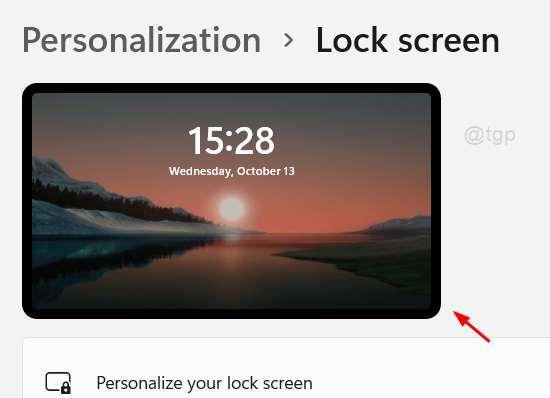 La imagen de fondo de la pantalla de bloqueo cambió Win11 11zon