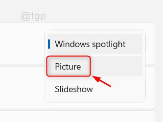 Seleccionar imagen de Personalizar pantalla de bloqueo Win11